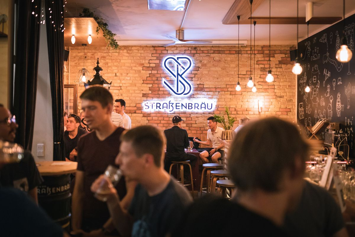 "July ""APIs and IPAs"" Community Meetup at Straßenbräu in Berlin"