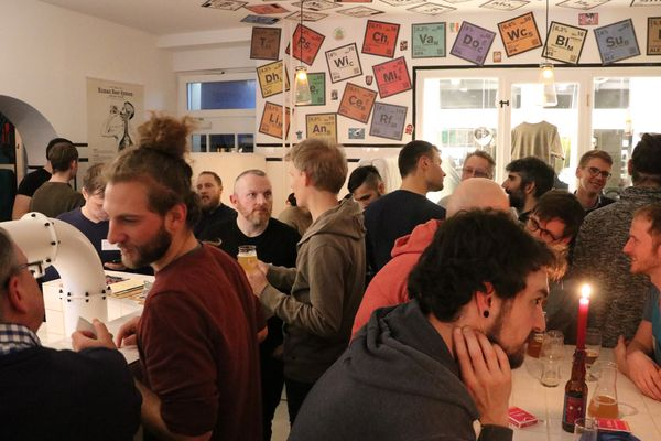 "First ""IPAs and APIs"" meetup in 2019 at ""Labor"" in Berlin"